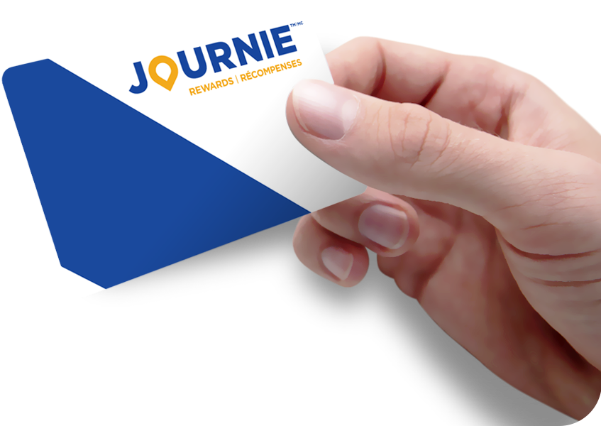 Prefer a plastic JOURNIE Rewards card?